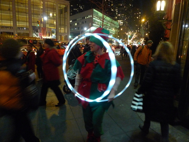 <p>An elf asked passers-by what they wanted for Christmas at Winter&#39;s Eve.</p>