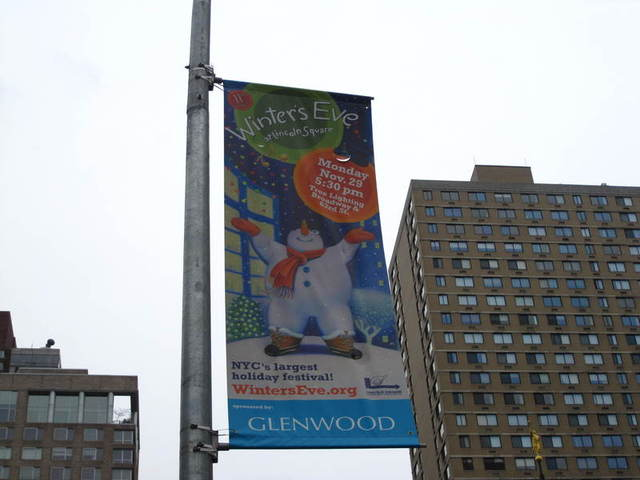 <p>A sign for Winter&#39;s Eve on the Upper West Side.</p>