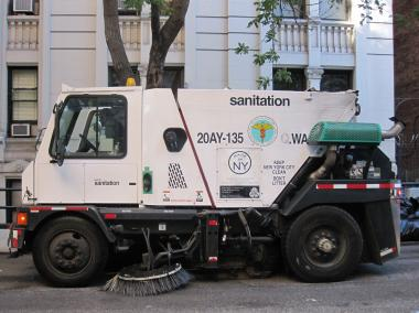 One of the city's street sweepers.