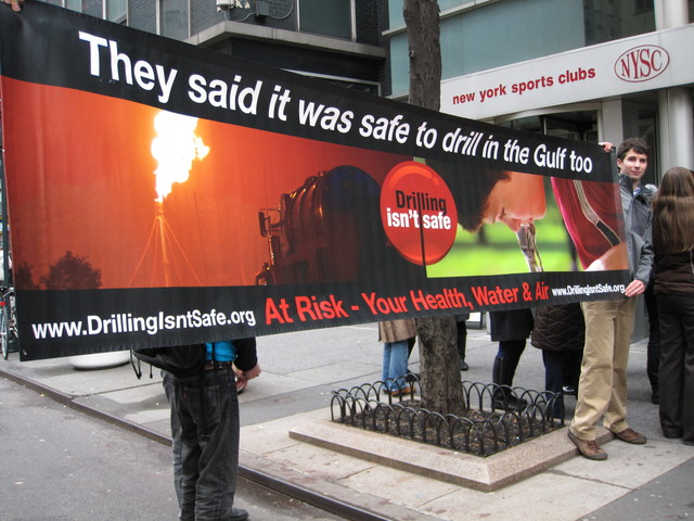 Opponents of hydrofracking say it could contaminate the entire New York City water supply.
