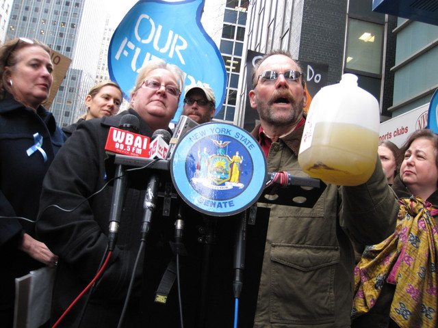 Craig and Julie Sautner, of Dimock, PA, say their drinking water was severely contaminated by vertical hydrofracking.