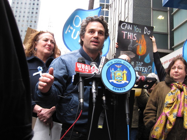 Actor Mark Ruffalo is a passionate anti-fracking advocate.