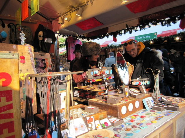 <p>The Union Square Holiday Market.</p>