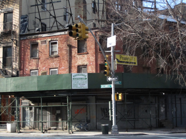 <p>The landmarked building on the corner of Canal and Greenwich streets has fallen into disrepair.</p>