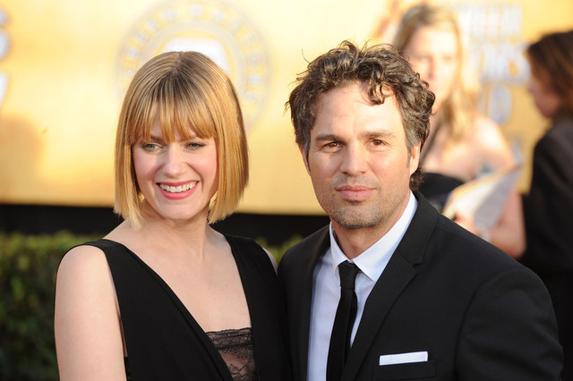 LOS ANGELES, CA - JANUARY 30: Actor Mark Ruffalo (R) and wife Sunrise Coigney arrive at the 17th Annual Screen Actors Guild Awards held at The Shrine Auditorium on January 30, 2011 in Los Angeles, California. (Photo by Frazer Harrison/Getty Images) *** Local Caption *** Sunrise Coigney;Mark Ruffalo