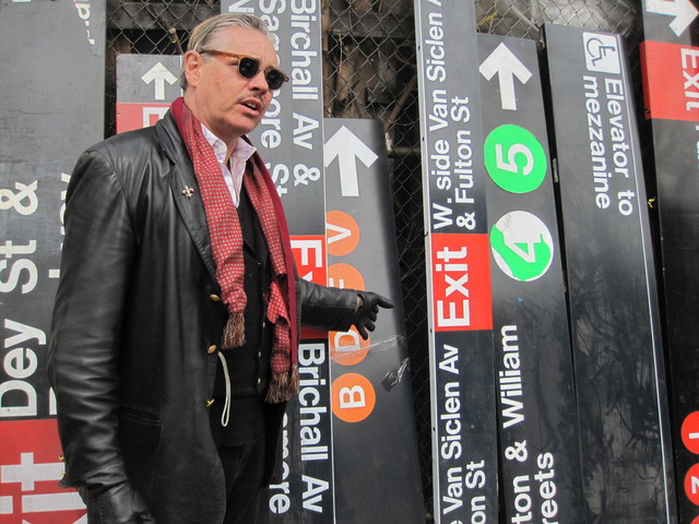 Billy Leroy welcomed back dozens of his subway signs following a year-long court battle.