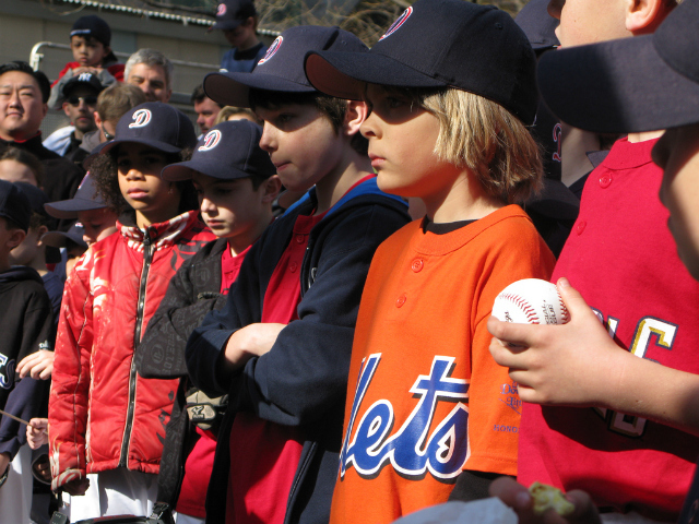 <p>Downtown Little League players waited for the season to begin.</p>