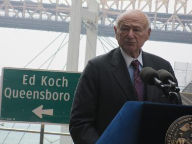 Ed Koch was admitted into intensive care on Jan. 31, 2013.