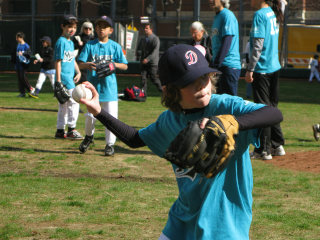 <p>Downtown Little League on opening day.</p>