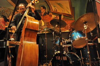 Musicians T.S. Monk and Ron Carter opened last year's Harlem Jazz Shrines Festival at Minton's Playhouse.