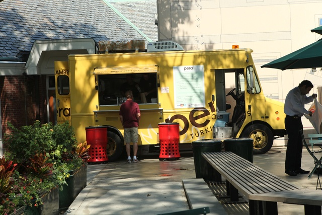 Pera, which serves Turkish tacos, is one of four food trucks that signed contracts with the Parks Department last fall.