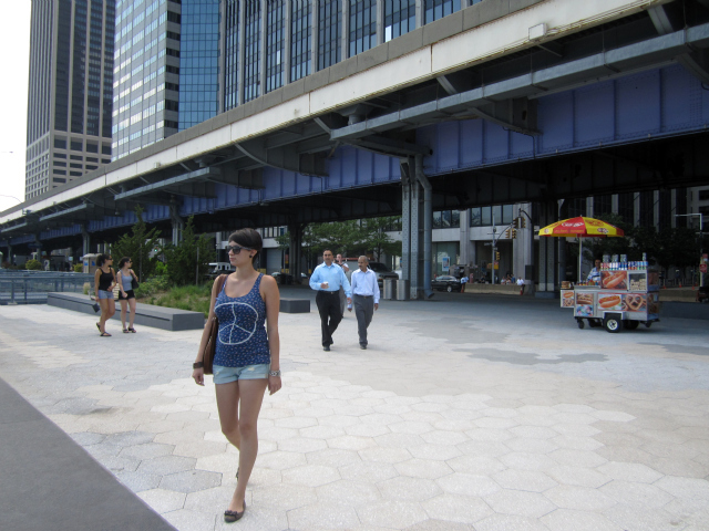 People enjoyed the new East River Waterfront when it opened in the summer of 2011. More sections will open over the next few years.