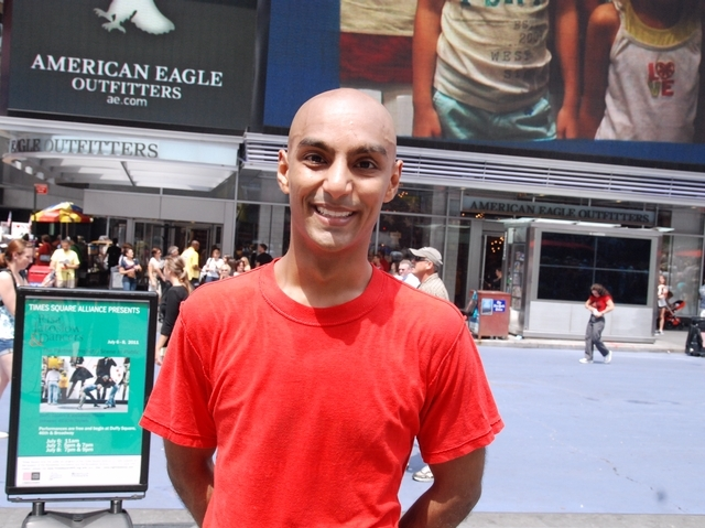 Dancer Paul Singh, 30, said said he loves the unexpected element of performing outside.