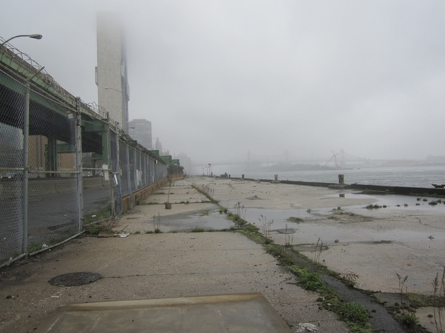 The abandoned Pier 38, a former Con Edison pier along the East River from East 38th to 41st streets.