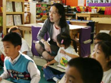 Shuang Wen principal Ling Ling Chou was reassigned by the Department of Education.