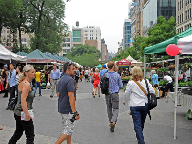 The Union Square farmers' Market on July 8, 2011.