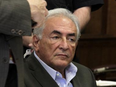 Strauss-Kahn at a bail hearing in Manhattan Supreme Court.