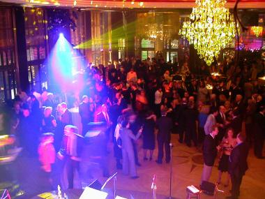 The dance floor at the Rainbow Room.