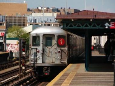A woman was struck and injured by a 1 train in Hamilton Heights Tuesday morning, authorities said.