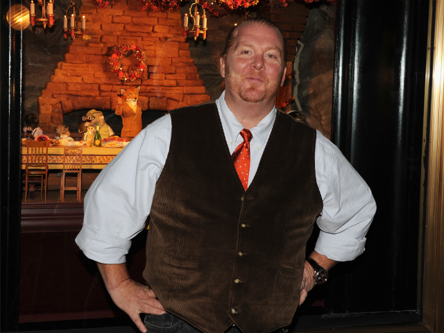 <p>Chef Mario Batali at the premiere of &#39;The Fantastic Mr. Fox&#39; at Bergdorf Goodman in 2009.</p>