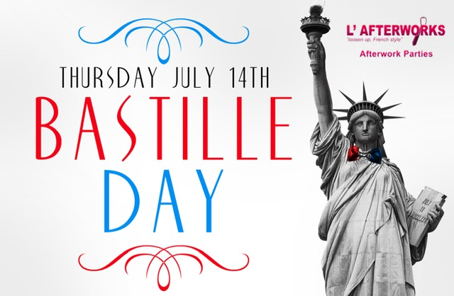 A Bastille Day party boat, hosted by L'Afterworks, will depart from the East River at East 23rd Street at 8 p.m.