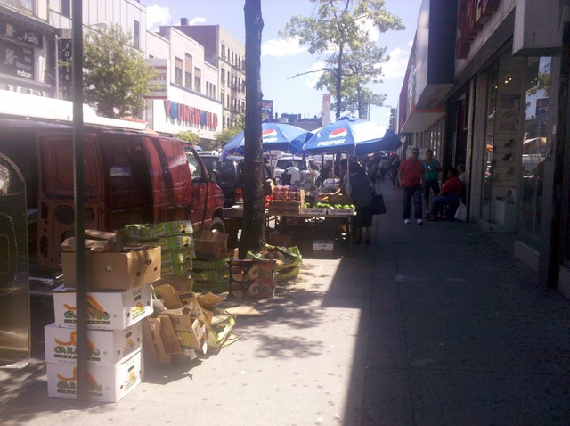 Hundreds of vendors fill Washington Heights every day of the week.