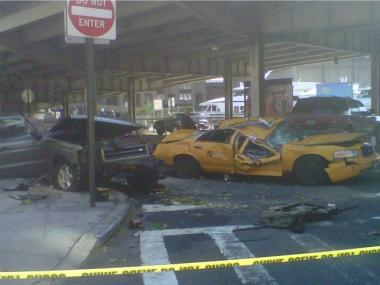 Eight were injured when a Land Rover flipped off the FDR Drive at 23rd Street on July 16, 2011