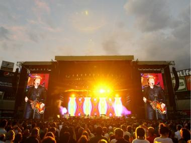 Paul McCartney plays Yankee Stadium July 16, 2011.