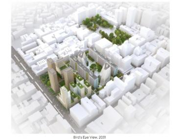 NYU's expansion plan would transform two large blocks bordered by Mercer Street, West Houston Street, LaGuardia Place and West 3rd Street.