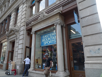 Eastern Mountain Sports has a store on Broadway and Spring streets, pictured here. It opened a store at West 76th and Broadway last September.