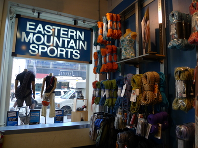 Eastern Mountain Sports has a store on Broadway and Spring streets, pictured here. It opened a store at West 76th and Broadway last September. Dee Rieber said EMS was much more generous to the community and offered to work with the block association on events.