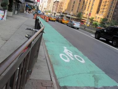 The DOT is extending bike lanes along First and Second avenues between 34th and 59th streets. Roughly two-thirds of those polled in a recent survey say they support bike lanes in New York City.