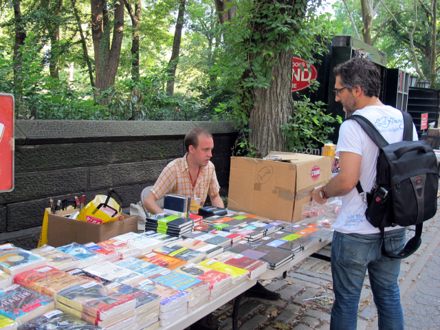 Chris Jacobson, 30, said the Strand's booth along Fifth Avenue near the entrance to Central Park would be open all day, despite the heat.