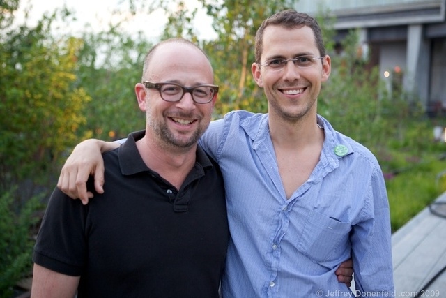 <p>The co-founders of Friends of the High Line, Joshua David and Robert Hammond.</p>