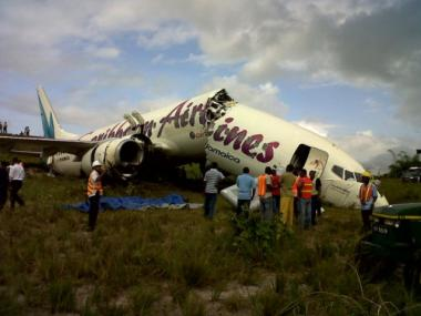 Caribbean Airlines Flight BW 523, which originated at JFK airport, crashed in Guyana on July 30, 2011. No deaths were immediately reported.