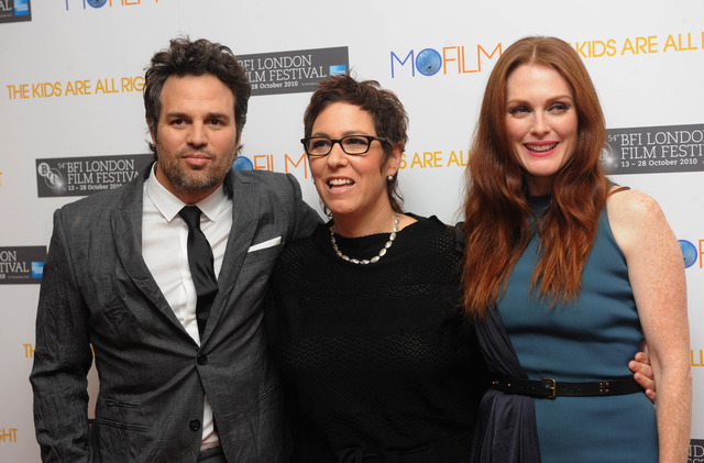 Actor Mark Ruffalo, writer and director Lisa Cholodenko, and actress Julianne Moore attended the premiere of 'The Kids Are Alright' at the 2010 London Film Festival.