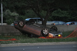 Car Flips at West Side Highway and 95th Street