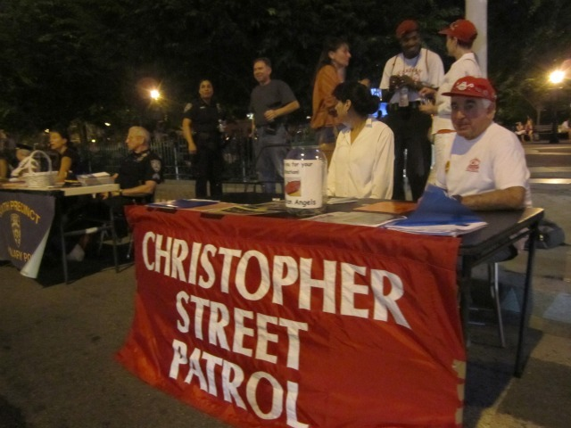 The Christopher Street Patrol walks the streets of the West Village as extra eyes and ears for police.