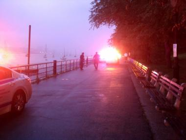 The body of a 25-year-old man was pulled from the Hudson River near West 79th Street on Monday afternoon. Cops responded to the area for a similar incident, seen here, back in 2011.