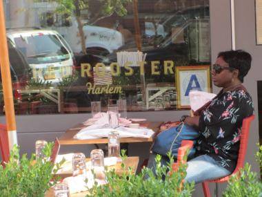 Red Rooster Harlem displays its new 'A' health inspection grade Friday.