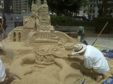 Sand Castle Built in Foley Square for Summer Streets