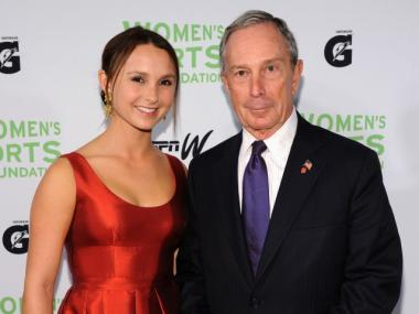 Georgina Bloomberg and the mayor attend the 31st Annual Salute to Women in Sports gala at The Waldorf-Astoria on October 12, 2010.