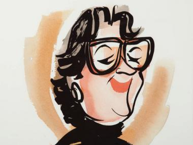 A printed caricature of the restaurant's famed proprietor could sell for $200 to $300 at the auction. The caricature is part of a collection of artwork and memorabilia that once belonged to the restaurateur and will be sold at Doyle New York on Sept. 20, 2011.