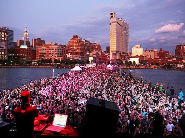 <p>A massive crowd turned out to see German DJ Paul van Dyk on Pier 54 in 2008.</p>