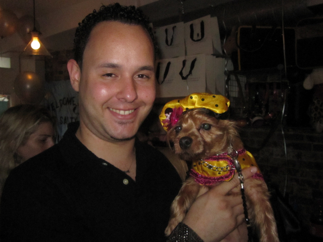 Dog clothing designer Roberto Negrin said he is inspired by his Yorki mix Abby.