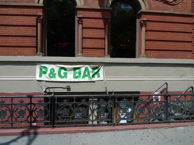 P&G Bar, which left the corner of West 73rd Street and Amsterdam Avenue in 2009 after 66 years, closed its location at 480 Columbus Avenue in 2011. A new restaurant is slated to move into the space.