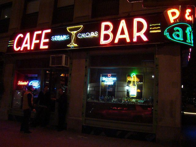 The famed neon sign at the old P&G Bar lit the corner of West 73rd Street and Amsterdam Avenue for 66 years.
