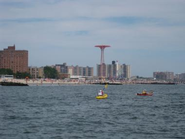 A body was found in the waters off Sea Gate, Brooklyn on May 27, 2012.