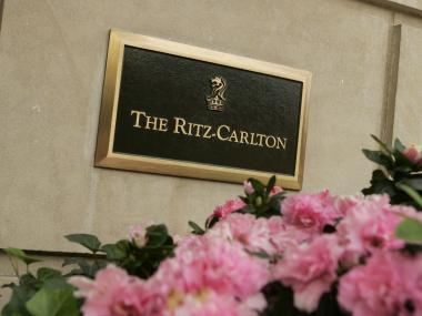 The Ritz-Carlton Hotel sign.