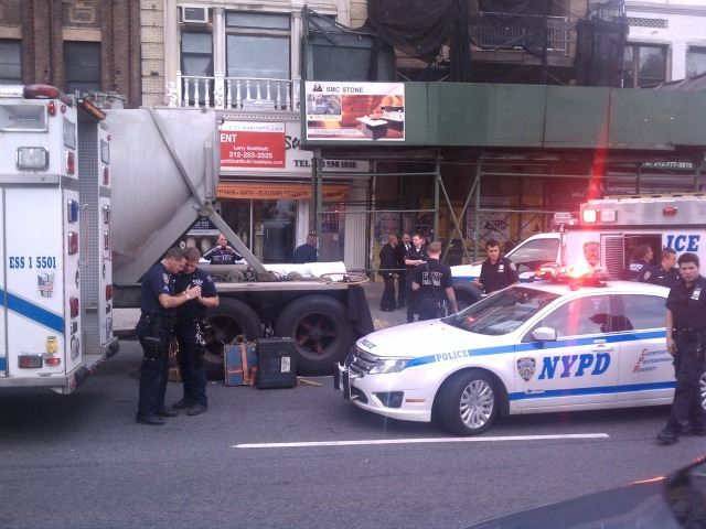 A man was struck and killed by a truck on Chrystie and Delancey streets on Aug. 18, 2011.
